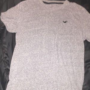 Men's grey Hollister shirt  S